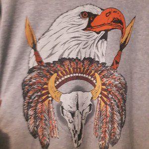 MINKPINK Sweater Large Hawk Graphic Long Sleeve S